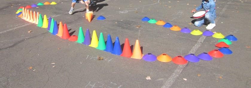 rainbow cones